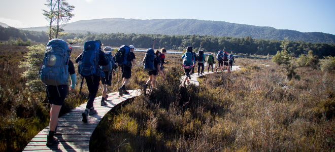 High School Year mit MAP, Wandern Mount Aspiring College